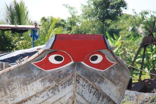 Boot mit Augen