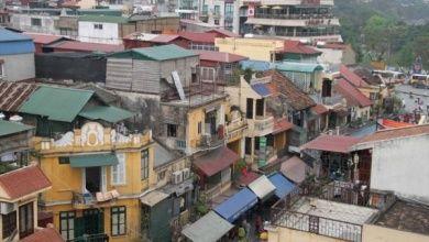 Blick von der Dachterasse des Hotels Serenade in Hanoi